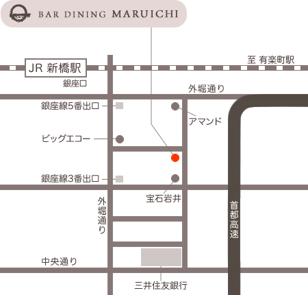 BAR DINING MARUICHI の地図